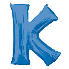 Folieballon Blauwe Letter 'K' - Groot