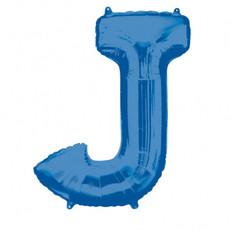 Folieballon Blauwe Letter 'J' - Groot