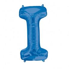 Folieballon Blauwe Letter 'I' - Groot