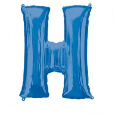 Folieballon Blauwe Letter 'H' - Groot