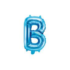 Folieballon Licht Blauw Letter 'B' - 35cm