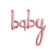 Folieballon 'Baby' Rose Goud - 73 x 75cm