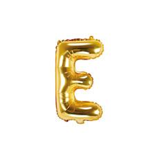 Folieballon Goud Letter 'E' - 35cm