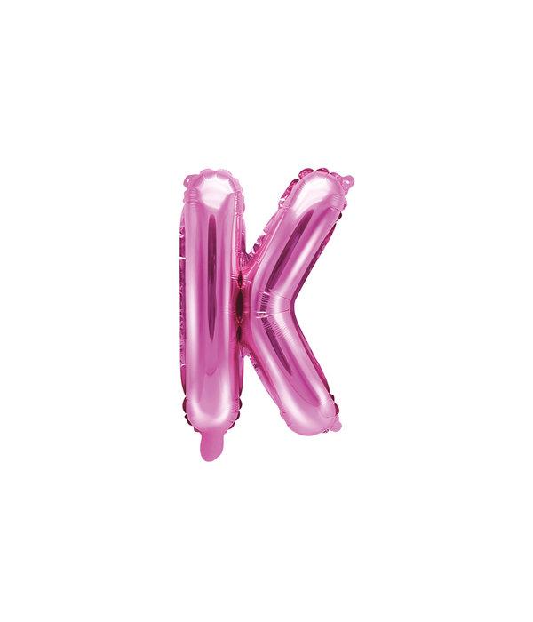 Folieballon Letter 'K' Donker Roze - 35cm