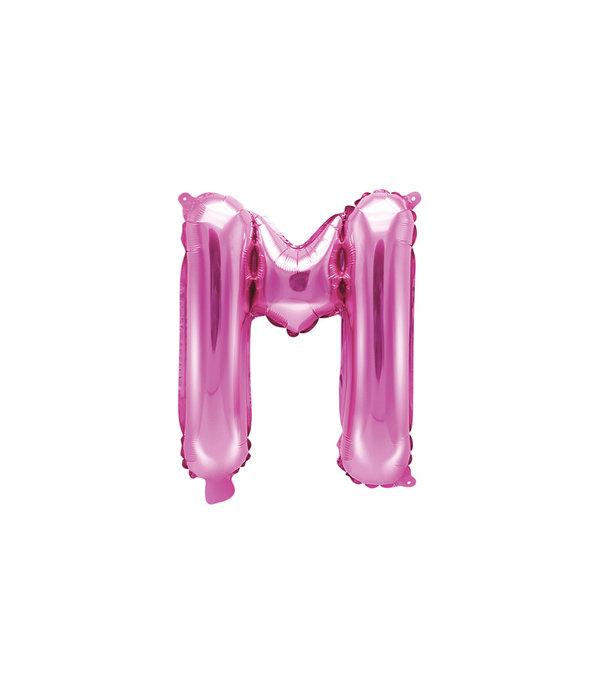 Folieballon Letter 'M' Donker Roze - 35cm