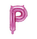 Folieballon Letter 'P' Donker Roze - 35cm