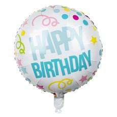 Folie Ballon Happy Birthday Confetti