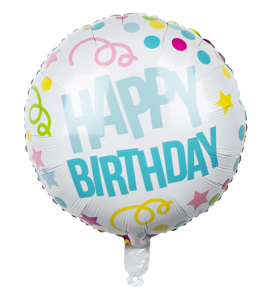 folie ballon happy birthday confetti  feestbazaarnl