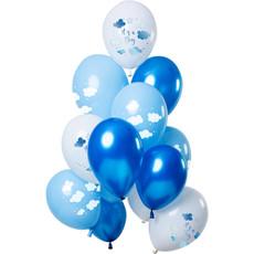 Ballonnen 'It's  a Boy' Blauw Premium - 12 Stuks