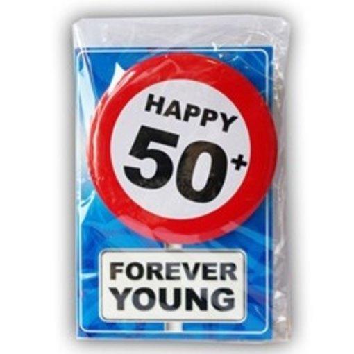 Happy Age Kaart - 50 Jaar Forever Young
