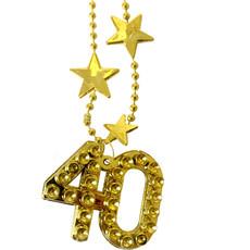 Goudkleurige Ketting Ster 40 Jaar
