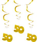 50 Jaar Hangdecoratie Goud Set - 3 Stuks