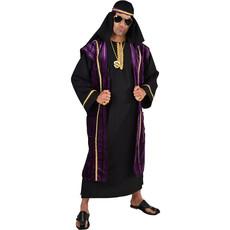 Zwart/Paars Sjeik kostuum deluxe