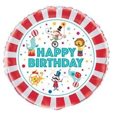 Folieballon Happy Birthday Circus 45cm