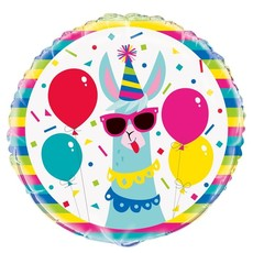 Lama Folieballon verjaardag