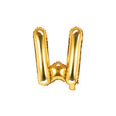 Folieballon Goud Letter 'W' - 35cm