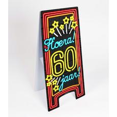 Neon Waarschuwingsbord 60 jaar