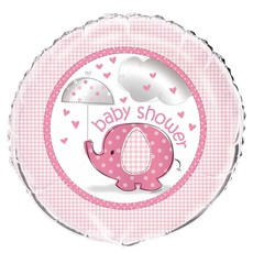 Baby Shower Folie Ballon Olifant Roze 45cm