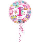 Folieballon 1 Jaar Birthday Girl