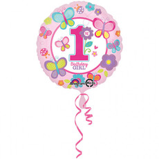Folieballon 1 Jaar Birthday Girl