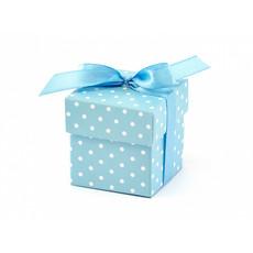 Geschenkdoosjes Blauw Met Stippen - 10 Stuks