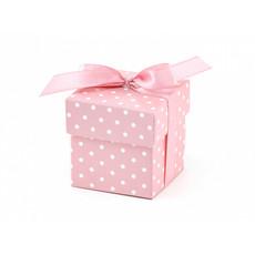 Geschenkdoosjes Roze Met Stippen - 10 Stuks