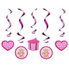 Geboorte Swirls Beertjes Roze - 5 Stuks