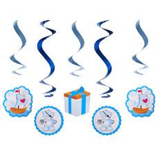 Geboorte Swirl Beertjes Blauw