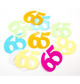 65 Jaar Tafelconfetti XL multikleur