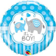 Folieballon It's A Boy Blauw Olifant - 45 cm
