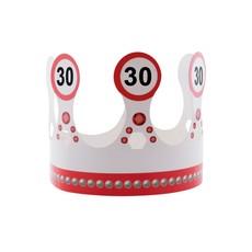 Kroon 30 jaar  Verkeersbord
