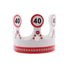 Kroon 40 jaar  Verkeersbord