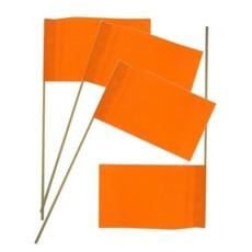 Oranje zwaaivlaggetjes papier - 50 stuks