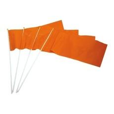 Zwaaivlaggetje oranje op stokje plastic