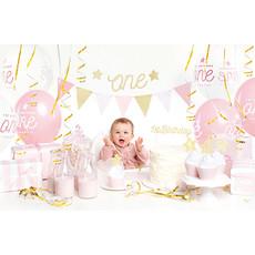 Feestpakket 1e Verjaardag Roze