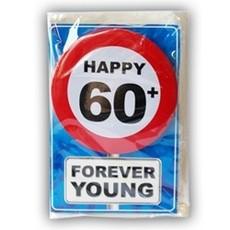 Happy Age Kaart Button - 60 Jaar