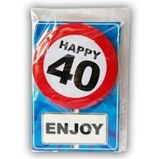Happy Age Kaart Button - 40 Jaar
