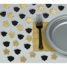Tafeldecoratie 'geslaagd' zwart/goud glitter