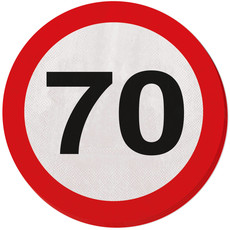 Servetten Verkeersbord 70 Jaar
