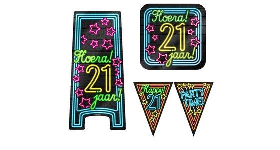 Neon decoratie 21 jaar