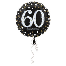 Folieballon 60 Jaar Happy Birthday Zilver 43cm