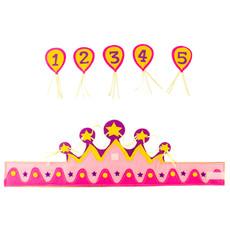 Verjaardagskroon stof Leeftijden 1 tot 5 Meisje