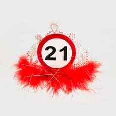 21 Jaar Verkeersbord Tiara