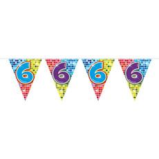Vlaggenlijn 6 Jaar Birthday Blocks - 6 Meter
