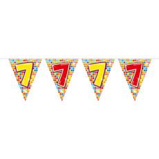 Vlaggenlijn 7 Jaar Birthday Blocks - 6 Meter