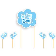 Taart Topper Set Geboorte Baby Boy