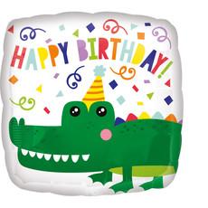 Folieballon Happy Birthday Krokodil - 43 cm