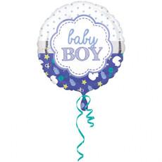 Folieballon Baby Boy Blauw - 43 cm