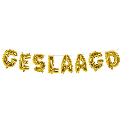 Folieballonslinger 'GESLAAGD' (4m)