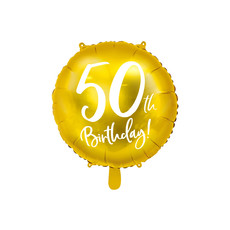 Folieballon 50th Birthday goud (45cm)